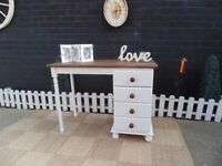 SOLID PINE FARMHOUSE DRESSING TABLE PAINTED WITH LAURA ASHLEY PALE DOVE