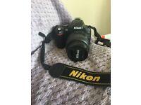 D40 SLR Nikon camera with 18-55mm lens