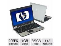 PROFESSIONALLY REFURBISHED HP8440 LAPTOP 4GB RAM 320GB HDD INTEL i7 WEBCAM OFFICE 6 MTH WRNTY VGC