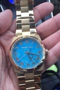 Michael Kors Channing Turquoise face watch