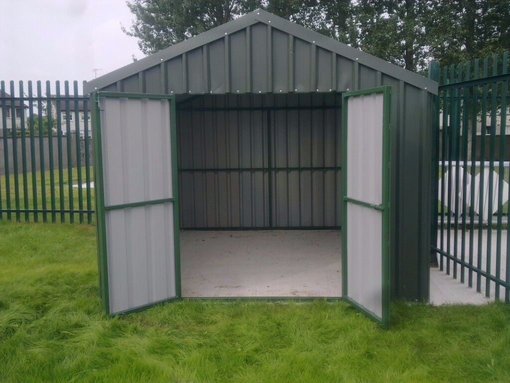 Steel Frame Shed : Pvc coated steel sheds we build to suit your space in