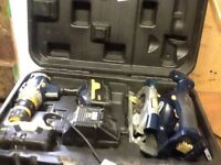 Macallister 18v cordless hammer drill and rip saw