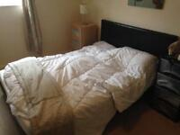 Double bed storage with mattress