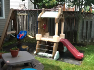 Little Tikes swing and slide outdoor play structure