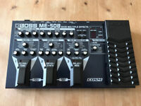 BOSS ME-50B bass multiple effects pedal with BOSS power supply - new photos added