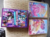 children barbie and monster high DVD