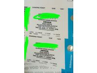 2 x eminem tickets Bellahouston 24th August