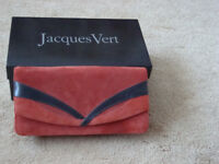 Jacques Verte Terracotta/Black Handbag