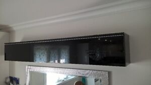 IKEA BURS high gloss black wall shelf