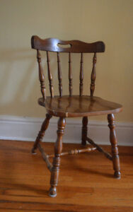 Simple Brown Wooden Chair