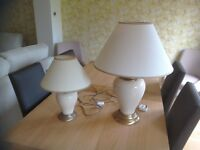 Large and small matching touch lamps