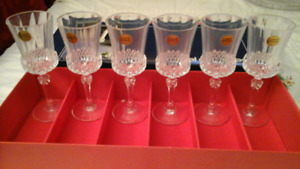 CRYSTAL WINE GLASSES - VALENCAY - CRISTAL D'ARQUES - FRANCE