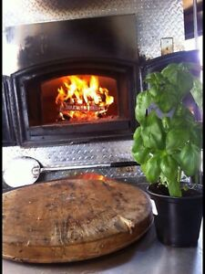 Wood fire mobile pizza trailer