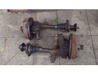VW AirCooled Split Screen 1500cc GearBox Drive Shafts c/w Drums
