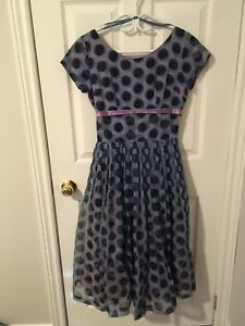 Vintage Polka Dot Dress with Free Strapless Dress!