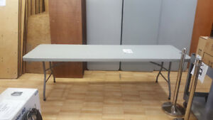 8 FT PLASTIC TABLE - FOLDING LEGS | USED FOR SALE!