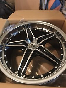 "18"" BRAND new konig sideway black machined $520 OBO 5on100"