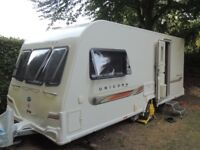 Two berth Caravan - Bailey Unicorn Seville 2011, with awning, motor mover and accessories
