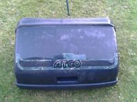 atco mower box and seat with roller