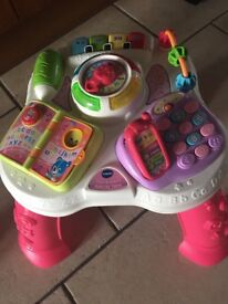 Pink Vtech Activity Table