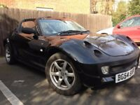 2005 Smart roadster Cat D, light rear damage, Have crash bar, just plastics to finish. 9 months MOT