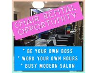 SELF EMPLOYED HAIRDRESSER WANTED