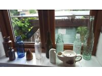 Collection of Old Bottles & Jars