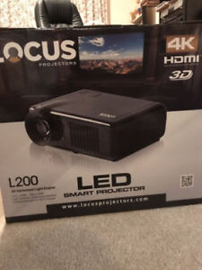 Locus Projector L-200 -- 4K Ultra 3d HDMI SMART LED NEW with box