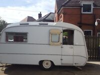 Vintage caravan, in good condition and working order,