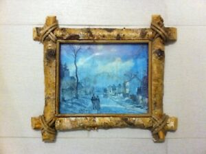 Natural Wood Bark Picture Frame