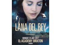 1x Lana Del Rey Ticket - O2 Academy Brixton - Monday 24th July