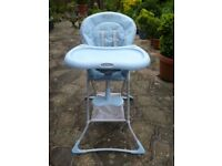 Graco Space Saving High Chair in Blue