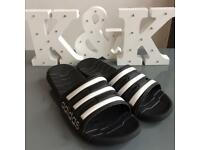 Adidas Sliders. Size 9