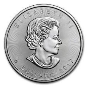 2017 1 oz Silver Maple Leaf $5 coin from the Canadian Mint