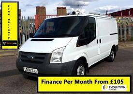 SALE SALE!!Ford Transit Van 2.2 300-1 Owner-EX BT, 70K Miles, FSH - 8 Stamps, 1YR MOT -Elec Window