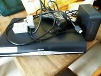Sky+ hd box broadband router remote and all cables