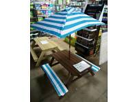 Childrens Garden Picnic Bench