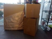 Large double wall cardboard boxes x13 NEW UNUSED