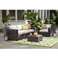 Super deal ensemble patio avec 6 places mobilier for Mobilier exterieur montreal