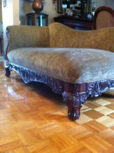 Antique Style Chaise Lounge by Mariette Clermont Very Nice!