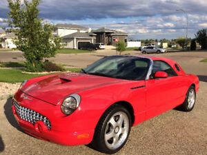 2002 Ford Thunderbird Torch Red, Removable Hard Top Convertible