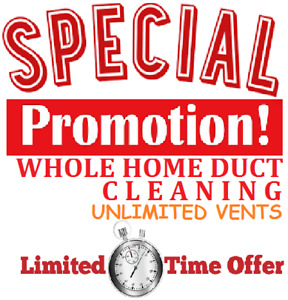 WONDERFULL PROMOTION FOR COMPLETE HOUSE AIR DUCT CLEANING $100/-