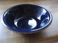 NEW GOLD EDGED COBALT BLUE DINNER SERVICE 4 LARGE PLATES 6 SIDE PLATES 4 CUPS 3 CERIAL SOUP BOWLS