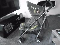 Cosatto lie flat umberella buggy with matching footmuff & raincover