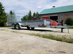 New 21 ft galvanized utility trailer special price!