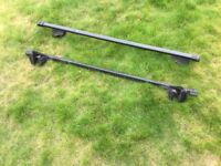 Thule roof rack bars with clamps