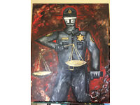 Political Artwork in Acrylic Paint