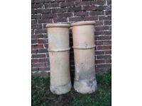 4 vintage chimney pots