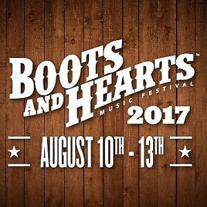 2 Boots and Hearts Tickets Available