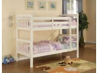 Solid wooden bunk bed can split into 2 single beds brand new in box